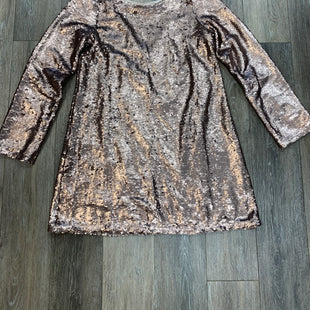 Primary Photo - BRAND:   DOUBLE ZERO STYLE: DRESS SHORT LONG SLEEVE COLOR: ROSE GOLD SEQUIN SIZE: L OTHER INFO: SKU: 137-13714-177350