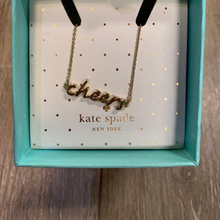 "Primary Photo - BRAND: KATE SPADE ""CHEERS""STYLE: NECKLACE COLOR: GOLD OTHER INFO: GREAT GIFT SKU: 137-137136-25099"