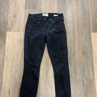 Primary Photo - BRAND: FRAME STYLE: JEANS COLOR: BLACK SIZE: 0/24OTHER INFO: DISTRESSED LE SKINNY DE JEANNESKU: 137-137190-2589