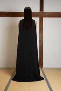 Silk Crepe cape gown