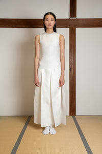 Paneled dress in silk gazar