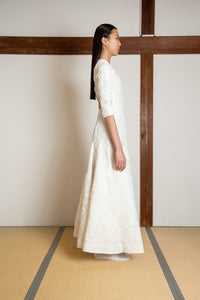 Full embelished silk gazar gown
