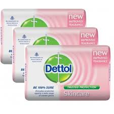 Dettol Soap Skin Care 1 X 3Pcs