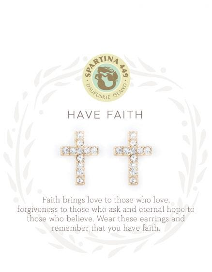 Sea La Vie Have Faith Stud Earrings