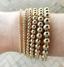 Load image into Gallery viewer, Classic Gold 2mm Bead Bracelet
