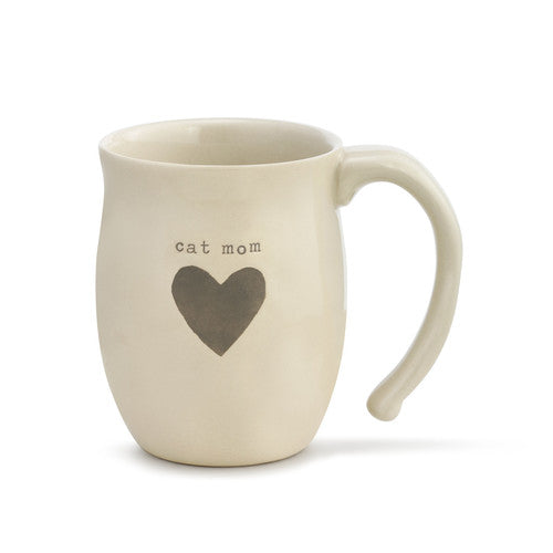 Cat Mom Heart Mug