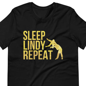 Sleep Lindy Repeat - Singapore Lindy Revolution | Short-Sleeve Unisex T-Shirt