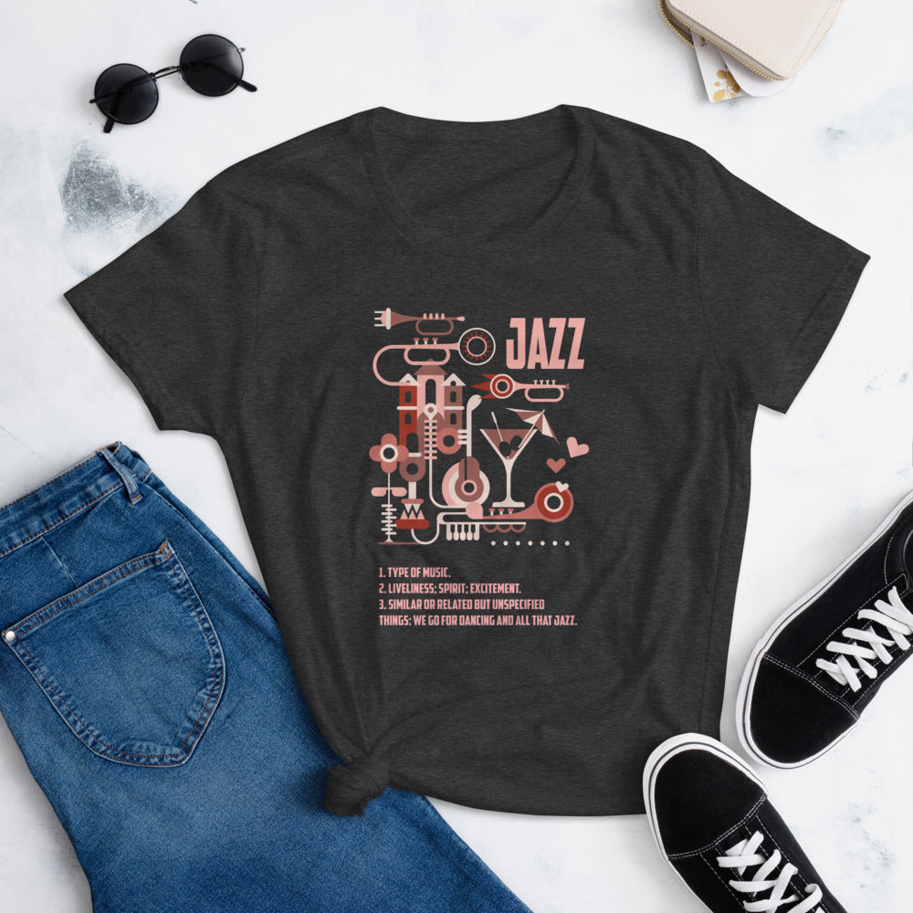 What a Jazz by Martynas Stonys | Women's short sleeve t-shirt