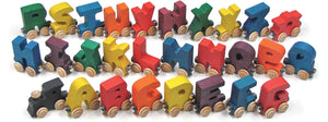 Letter E- Bright Colored Wooden Name Train