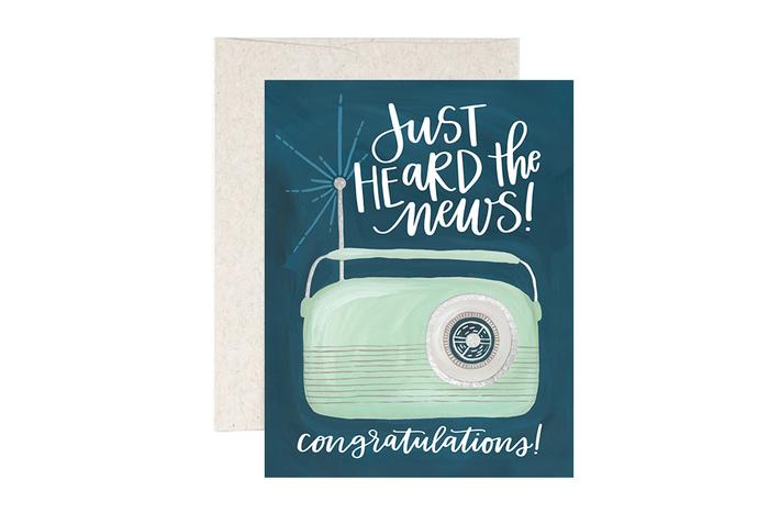 Just Heard the News- Greeting Card