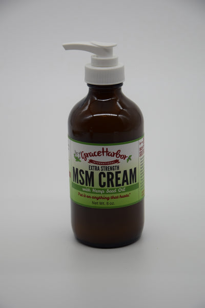 Extra Strength MSM Cream-with Hemp Seed Oil