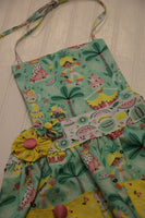 Girls Apron Reversible with Pineapple Dancers & Cherries