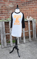 3/4 sleeve Tennessee football Tee