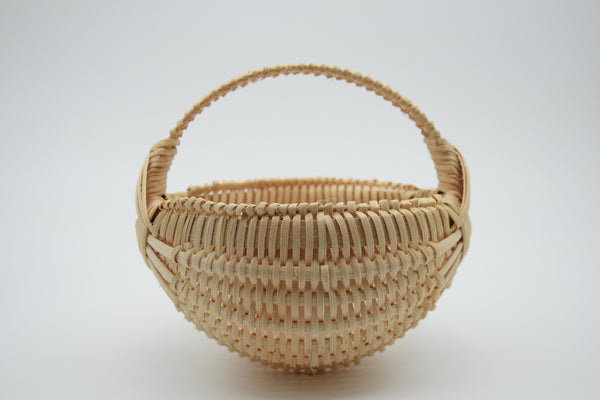 "6"" Rib Basket with Burgundy accented Handle"