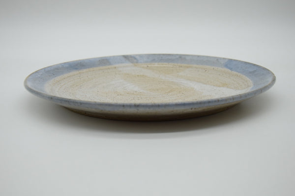Dinner Plate with Blue Rim