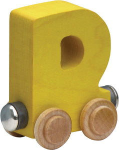 Letter D- Bright Colored Wooden Name Train