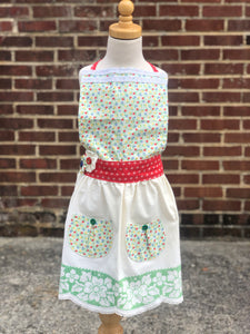 Girls Flower Field Apron
