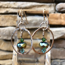 Load image into Gallery viewer, Constance Large Fine Silver Circle Earrings