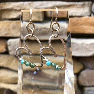 Hayden Fine Silver Heart Earrings