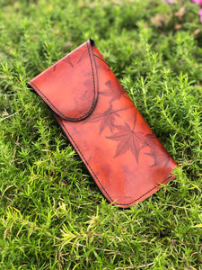 Eyeglass Case - Leaf Leather