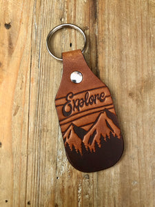 Explore Leather Key Fob