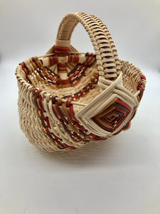 "8"" Rib Basket with Multicolor Fall Accents"