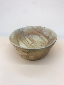 Hand-Turned Wooden Burl Bowl