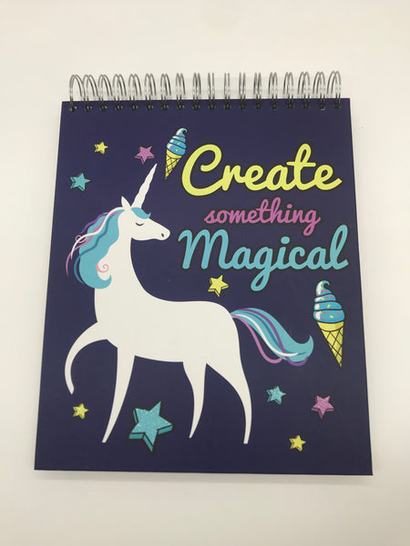 Create Something Magical- Unicorn Sketchbook