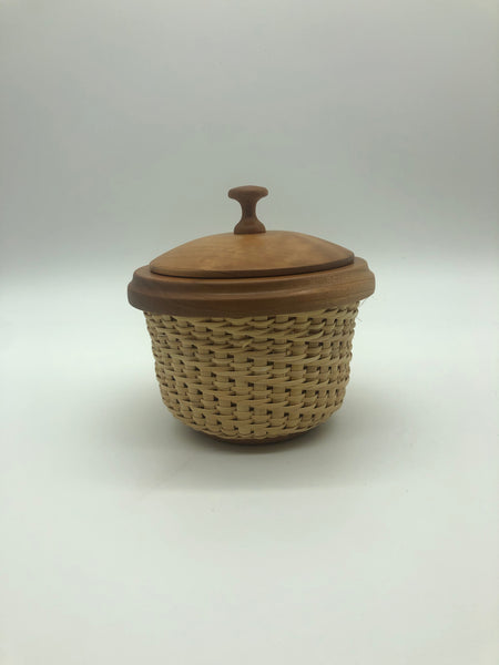 Petite Cherry Lidded Nantucket Basket