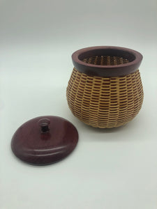 Pot Belly Lidded Basket
