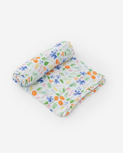 Mountain Bloom Cotton Muslin Swaddle