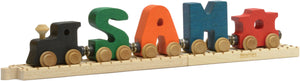 Letter V- Bright Colored Wooden Name Train