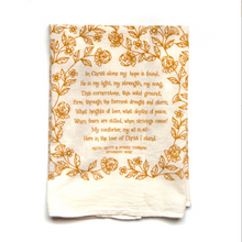 Load image into Gallery viewer, In Christ Alone- Hymn tea towel