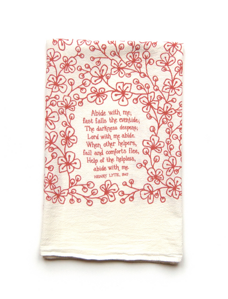 Abide with Me- hymn tea towel