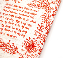 Load image into Gallery viewer, Blessed Assurance- Hymn tea towel
