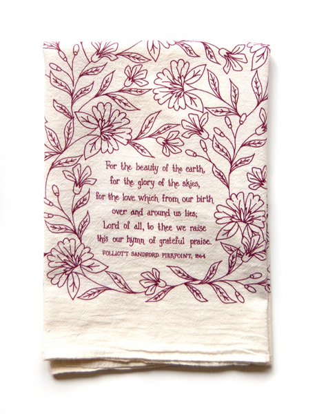 For the beauty- Hymn tea towel