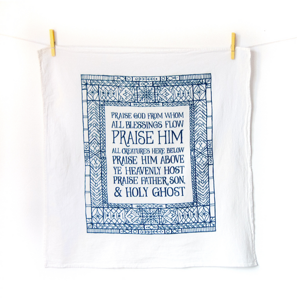 Doxology- hymn tea towel