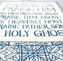 Load image into Gallery viewer, Doxology- hymn tea towel