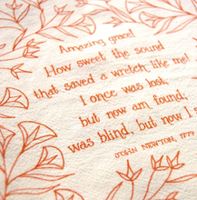 Load image into Gallery viewer, Amazing grace!- hymn tea towel