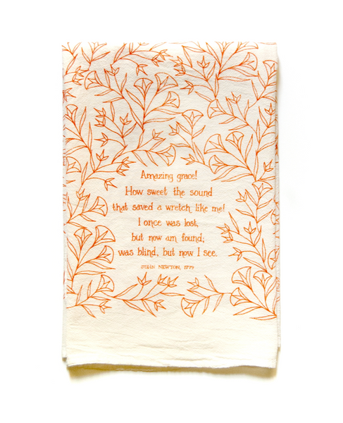 Amazing grace!- hymn tea towel