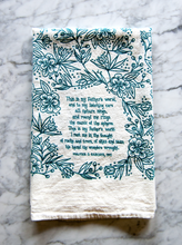 Load image into Gallery viewer, This is my Father's world- hymn tea towel