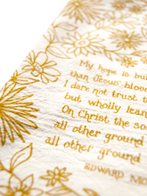 Load image into Gallery viewer, My hope is built- hymn tea towel