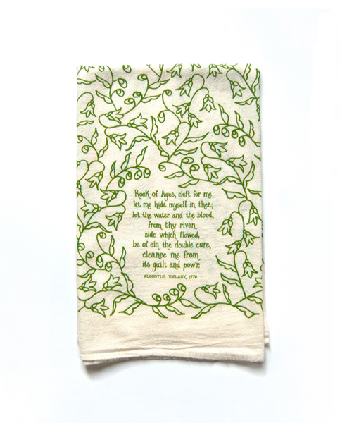 Rock of Ages- hymn tea towel