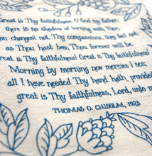 Load image into Gallery viewer, Great is Thy faithfulness- hymn tea towel