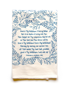 Great is Thy faithfulness- hymn tea towel