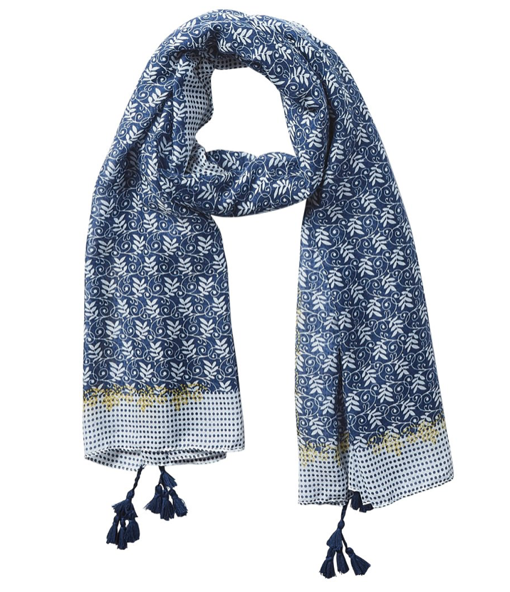Blue Dots Scarf