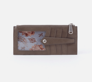 LINN- Hobo Credit Card Wallet in Gravel