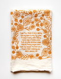 Come Thou Fount- hymn tea towel