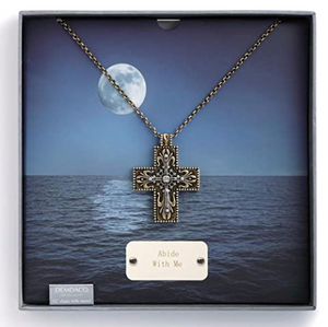 Abide with Me- Cross Pendant