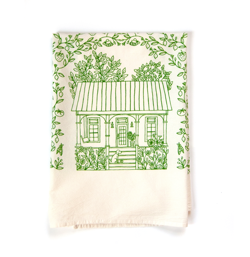 Summer- Four Seasons Tea Towel